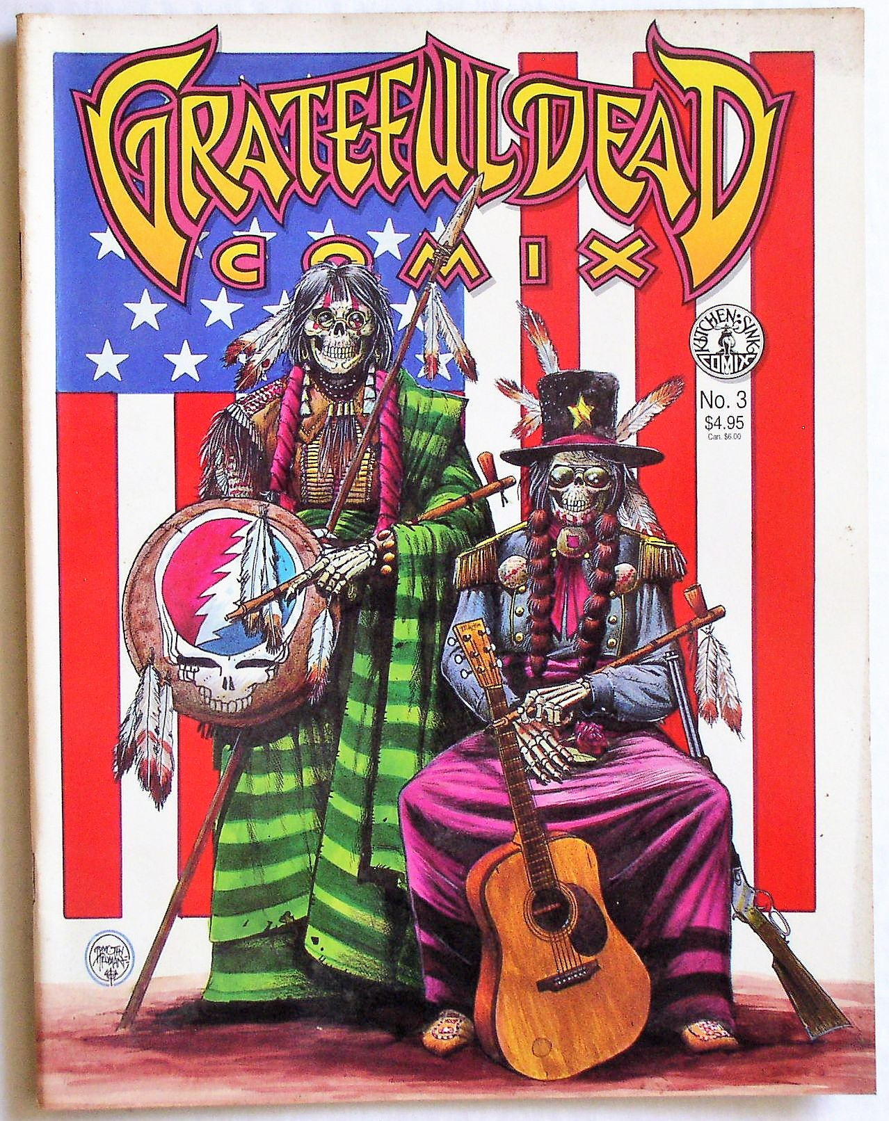 Grateful Dead Comix 3 Kitchen Sink Press 1991 Thingery Previews